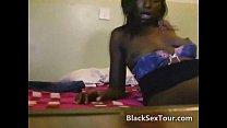 Black african teen sucks big white cock