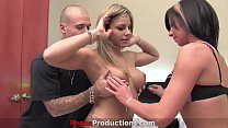 Pegas Productions - A Busty Milf Fucked in Threesome with Hot Blonde