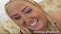 Little Blonde Teen Jassie Takes Boz's Monster BBC! Vorschaubild