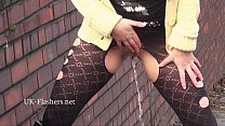Flashing blonde Kaz masturbating in public and outdoor striptease for voyeurs by pornhub video