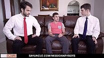 MissionaryBoyz - Cute Boy Having Threesome With Two Teen Boys