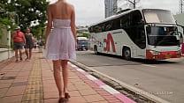 White see-through dress
