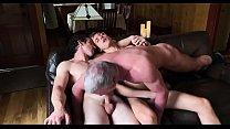 Threesome dad and boy