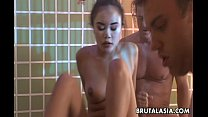 Masked Asian slut gets pussy ravaged by the definition of it Preview