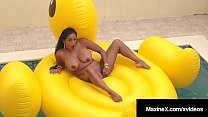 Oriental Mommy Maxine X Makes Herself Cum Riding Inflatable!