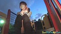 Asian teen flashing muff thumbnail