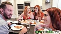 Aria Carson invites her boyfriend Quinton James over to meet her moms Lauren Phillips and Summer Hart.