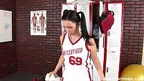 Teen fucked and facialized in the lockerroom