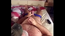 Jacking up another load out of my thick big cock !