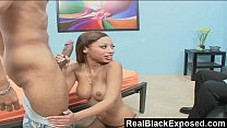 RealBlackExposed - Black Babe Swallows a Long Rod video