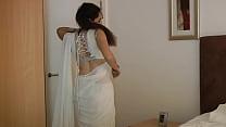 Indian College Girl Jasmine Mathur In White Ind...