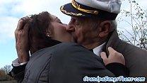 Teen beauty screwed by a senior captain
