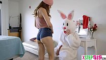 Teen easter eggs hunt ends up on the bunnies hard cock thumbnail