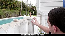 TheRealWorkout - Horny Housewife (Mia Pearl) Fucks The Poolboy!
