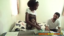 Young African teen working as personal maid pleasured bareback fucking Image