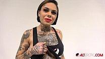 Interview with busty tattooed cutie Genevieve Sinn