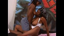 Ebony hip hop sluts with big boobs Lola Lane and Tiny Star have a licking pussy battle