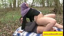 Sexy arabian milfand barely legal babes are posing in front of the camera and sw