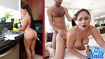 BANGBROS - Hot Latina MILF Maid Marta La Croft Gargles On Big Cock