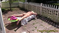 Nude Sunbathing Makes Her Super Horny