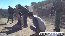 Latina babe fucked by the law enforcers guarding the border