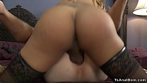 Big butt busty shemale anal fucks slave