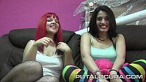 Two she-wolves for a lamb, today they come together but not upset, Carlota Teen and Mey Max