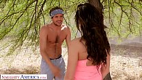 Naughty America - Becky Bandini fucks a young stud at the park thumbnail