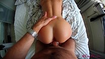 Lita Phoenix deepthroats juicy on her stepbrothers dick and swallows the full mouth of cum...