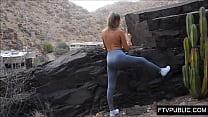 19 yo public nude and masturbation
