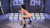 Download video bokep Slim small tits babe fucks machine 3gp terbaru