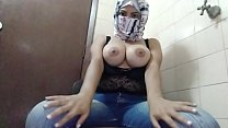 Hijab Arab Amateur MILF MOM Squirting Juicy Wet Creamy Pussy To Extreme Orgasm On Webcam NIQAB PORN