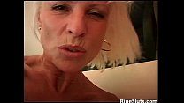 Blonde mommy with huge boobs fucked