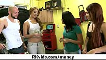 Gorgeous teens getting fucked for money 3