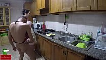 Nudist cuisine and fucked in the kitchen thumbnail