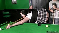 He fucks bbw in fishnets right on pool table