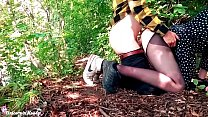 Sexy Teen Deepthroat and Dogging Cock Boyfriend in the Forest صورة