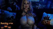 part 2 Halloween big boob cam show archive of Samantha 38g dot com