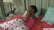 Ebony babe banged by white stepdad - VideoMakeLove.Com