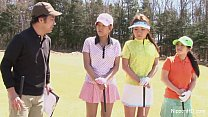 Asian teen girls plays golf nude preview image