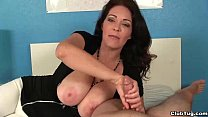 ct-Super big-titted milf jacks you off