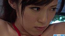Sara Yurikawa stimulated in kinky bondage porn show