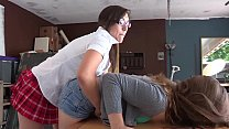 BUSTED: Tight Pussy Asian punishes and spank he...