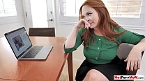 Busty redhead MILF stepmother plays a dangerous...