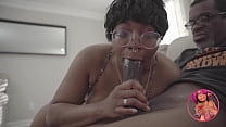 Ebony Teen Gives Rim Job and Rides Older Man BBC