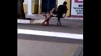 Novinha Safada Sucking Yummy A Cock In The Town Square