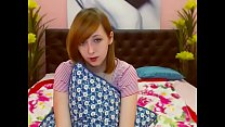 cute red head teen gets off on cam