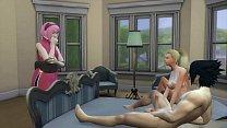 Sakura Finds her friend Ino with her Husband Sasuke Marriage Room Naruto Porn