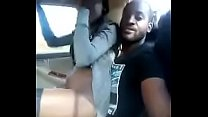 Kenyan couple fuck inside a moving taxi
