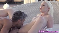 Erotic blonde gets oral and rides
